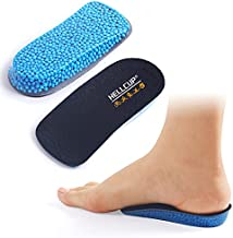 3/4 Heel Cup Inserts for Plantar Fasciitis, Heel Spurs, Sore, Bruising, Achilles Tendon, Silicone Heel Lift Shoe Inserts, 1 inch Height Increase Insoles for Man and Women (Blue, W 6-11.5 / M 4.5-9.5)