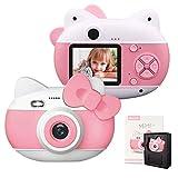 """le-idea Fotocamera per Bambini con Flash, Fotocamera Digitale per Cam per Bambini con Fotocamera HD 1080P / 4K Pixel (4032 * 3024) / Schermo IPS da 2.0"""" (Rosa Scuro)"""