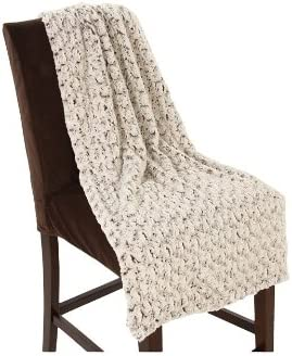 Bedford Cottage Rose Petal Faux Color: Polyester Fur safety Beige Super beauty product restock quality top Throw