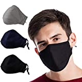 3 Pack Activated Carbon Filter Anti Dust Face Mouth Mask, WITERY Warm Anti Dust Mask Anti-fog Mask...