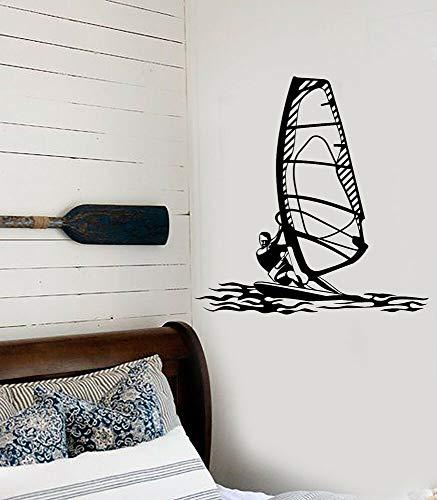 Vinilo adhesivo de pared Windsurf deportes acuáticos Windsurfer estilo playa pegatinas