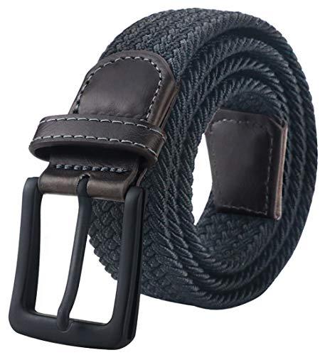 Mens Belt,Braided Belt, Stretch Woven Belt, Elastic Belt for Men, Braided Boys Belt Length 44'