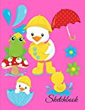 Sketchbook: A Cute Baby Spring Animals Theme Large 8.5' X 11' Personalized Artist Sketch Book Notebook Workbook and Blank Paper for Drawing, Painting ... Journal for Kids and adults [Idioma Inglés]