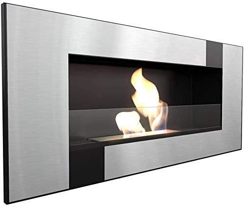 KRATKI - Caminetto biocamino DELTA2 400 x 900 cm, contenitore da 0,5 l, con vetro di 4 mm di spessore, etanolo da parete, ideale per la casa, certificato TÜV - Rheinland