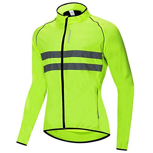 Roeam Chaqueta Cortaviento Hombre de Ciclismo,Resistente Viento y Agua,Tira Reflectante