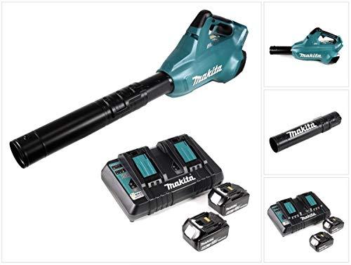 Makita DUB 362 PT accu-bladblazer 36 V + 2 x accu 5,0 Ah + dubbele lader