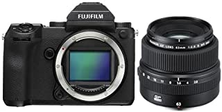 Fujifilm GFX 50S 51.4MP Medium Format Mirrorless Camera (Body Only) with Electronic Viewfinder, Full HD 1080p Video FUJINON GF 63mm F/2.8 R WR Lens