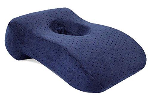 BOZEVON Langsam-Rebound Nap-Kissen Bürokissen Moderne Mittel-Hohle Design Kissen Rückenlehne Muti-Funktion Büro Kissen Marine
