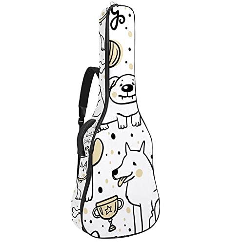 Funda de Guitarra Perro de hueso de dibujos animados Bolso de guitarra...