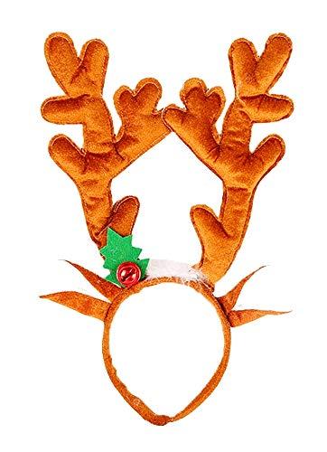 Inception Pro Infinite Cerchietto Orecchie Renna - Peluche - sonagli - Orecchie - Adulto - Colore Marrone Chiaro - Idea Regalo Originale Natale Compleanno
