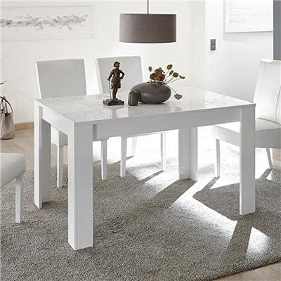 M-012 Table de Repas Blanc laqué Design 180 cm ELMA