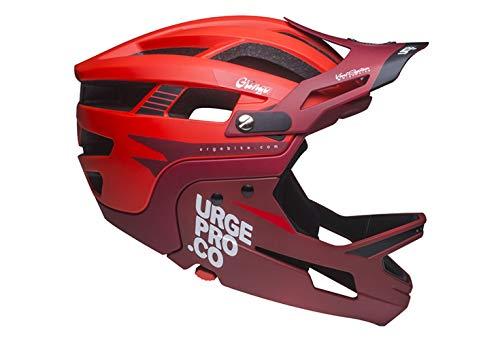 Urge Gringo de la Pampa Rouge S/M, Casco Integrale per Mountain Bike. Unisex-Adulto, Rosso