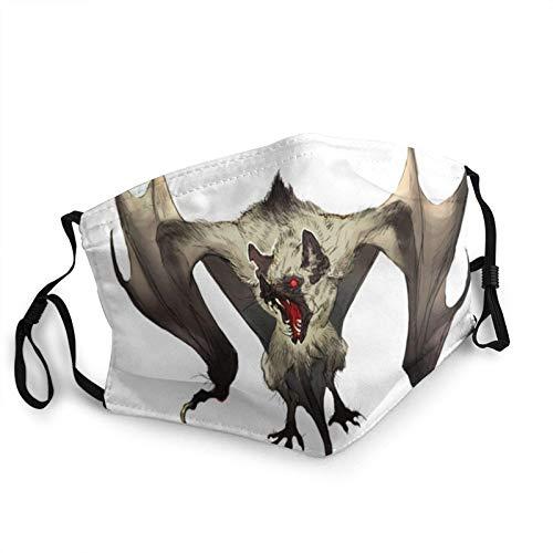 Bonita máscara protectora para la cara de murciélago de Halloween, de algodón, lavable, reutilizable, bufandas negras, 1 unidad