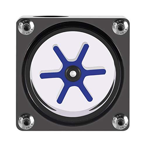 Enfriador de CPU líquido SHYEKYO con 6 impulsores, Sistema de refrigeración por Agua de acrílico + Pom PC, Rosca G1 / 4 fácil de Instalar, Negro