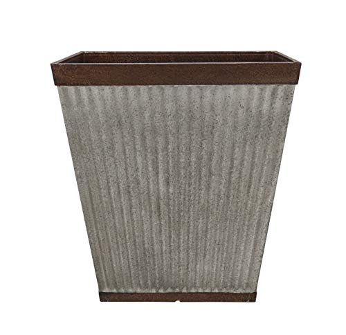 Southern Patio 16' Rustic Resin Faux Galvanized Square Planter