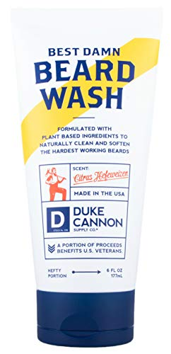 Duke Cannon Best Beard Wash, 6 Ounce/Made with Natural and Organic Ingredients