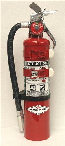 Amerex C354TS, 3lb Halon 1211 Class B C Fire Extinguisher, with Aircraft Bracket