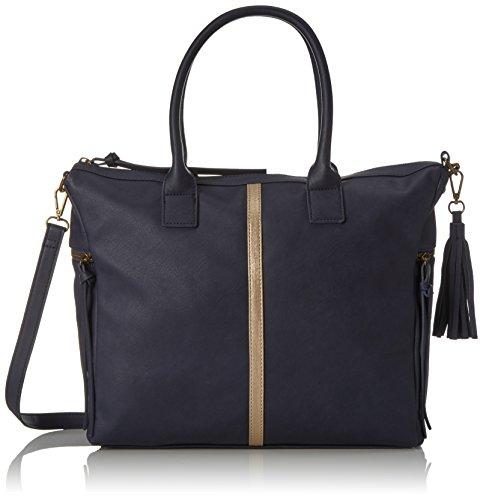 Pieces Pcjaci Bag, Sacs menotte femme, Blau (Navy Blazer), 13x26x34 cm (B x H T)