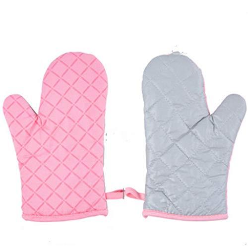 MZSC Hitzebeständige Wärmewärmeisolierung Anti-heiße Dicke Handschuhe Haus backofen Mikrowelle Backpulver grau