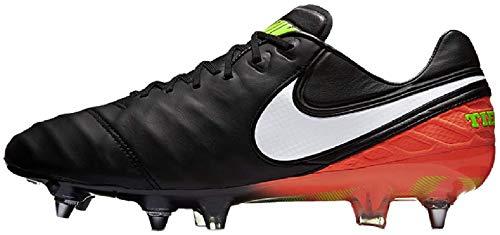 Nike 819680-018, Scarpe da Calcio Uomo, Nero/Bianco/Arancione/Giallo Fluo (Hyper Orange), 41 EU
