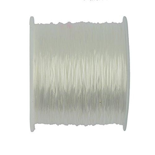 Bobine de Fil Elastique Polyester 50 Yards pr Bijou DIY Fabrication Couleur Varié - #24