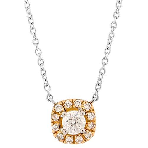 Orphelia Damen-Ketten mit Anhänger 18_k_(750) Bicolor Gold Diamant KD-2027/1