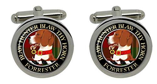 Forrester Clan écossais pour homme Écusson Chrome Boutons de manchette avec coffret cadeau