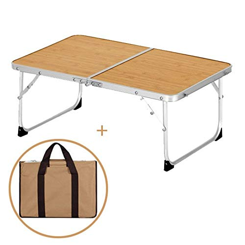 BAFU Laptop-Tisch, Laptop-Tabelle for Bett, faltbar Frühstück Tray tragbarer Mini-Picknick Schreibtisch Speicherraum Laptop-Schreibtisch-Notebook Stand