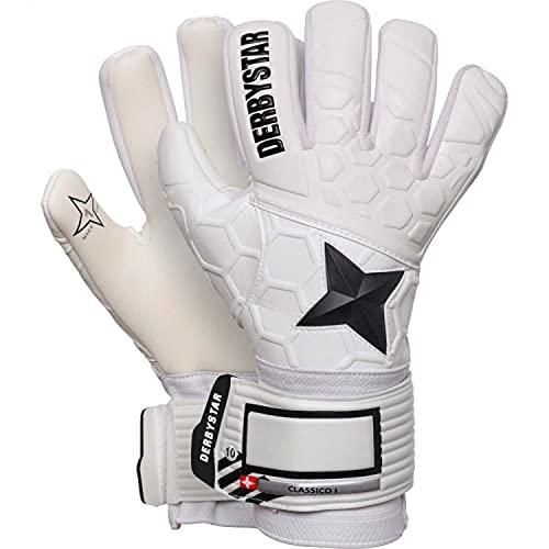 Derbystar Classico I Handschuhe Unisex, Weiss schwarz, 10