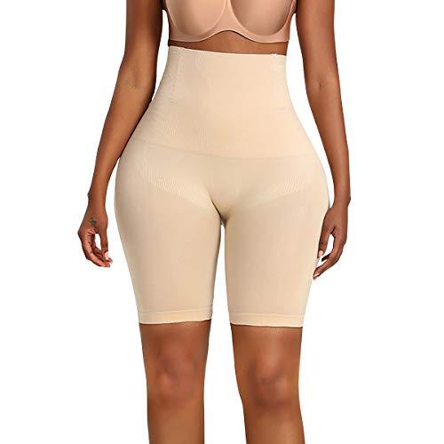 TOPMELON Women Seamless Tummy Control Shapewear Hourglass Booty Shorts Padded Butt Lifter Girdle (Best Nude, M)