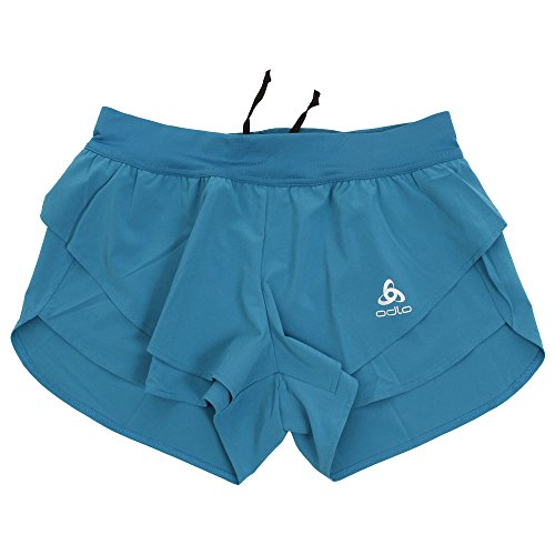Odlo Omnius Split Shorts Sport, Multicolore (Crystal Teal 40227), 32 (Taille Fabricant: X-Small) Femme