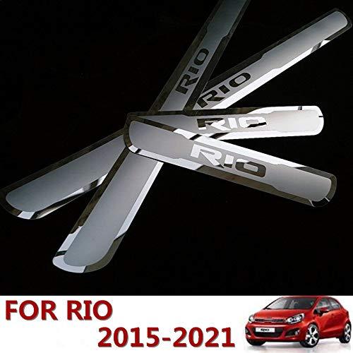 Per KIA RIO 2015-2019 2020 EU RIO X-Line Accessori In Acciaio Cromato Porta Sill Protector Door Sill Guard Scuff Plate Trim 4 pz YGAODWQ