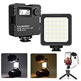 Mini LED Camera Video Light, Dimmable 2800K-8500K LCD Display Portable Video Lighting for GoPro iPhone Vlogging YouTube Video Filmmaking - EACHSHOT ES36