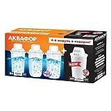 [page_title]-AQUAPHOR 4X Wasserfilterkartusche (3X B100-6 für hartes Wasser Plus 1x A5 Magnesium). Kompatibel mit Filterkannen Arctic, Prestige, Provance. 300 Liter Kapazität.
