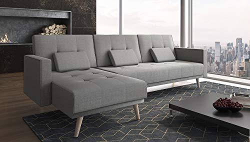 Ecksofa Couch –  günstig   Schlaffunktion umbaubar Bild 3*