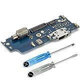 MMOBIEL Repuesto Conector Dock de Carga Compatible con Motorola Moto E4 5.0 Pulg Conexión Micrófono y Altavoz instalados