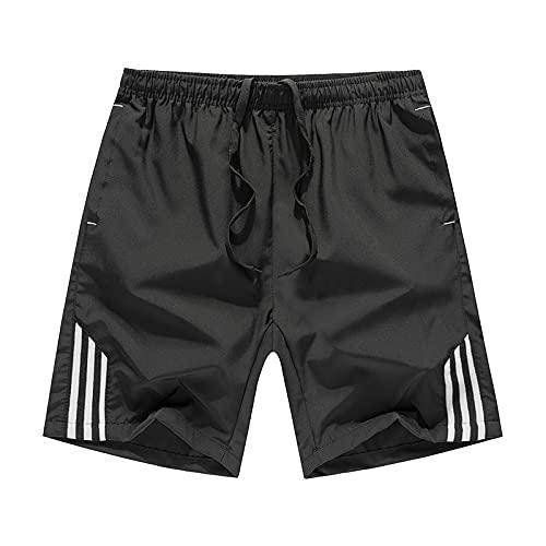 Verano Deportes de Ocio Pantalones de Cinco Puntos para Hombres Pantalones Cortos Sueltos Delgados Pantalones de Playa Transpirables para Correr Deportes Fitness 2XL