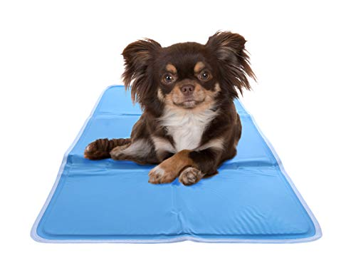 Chillz Cooling Mat For Dogs, Medium - Pressure Activated Gel Dog Cooling Mat - No Need to Freeze Or Refrigerate This Cool Pet Pad - Keep Your Pet Cool, Use Indoors, Outdoors or in the Car