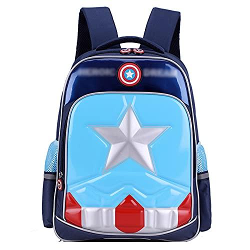 Mochila Capitán América Equipaje para Niños De Tirón Mano Desmontable Antichoque Regalo Estudiantes Viaje Bolsas Impermeables Maleta con Ruedas,Black-45X15X30CM