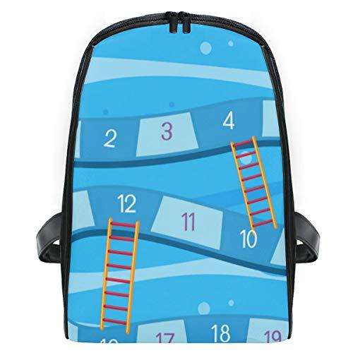 ELIENONO Unterwasser Brettspiel Vorlage Illustration,Laptop Rucksack für Männer Schulrucksack Multifunktionsrucksack Mini Tagesrucksack für Schule Wandern Reisen Camping