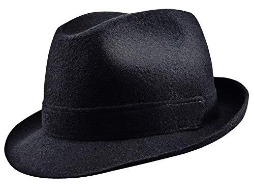 Sterkowski - Chapeau fedora - Homme - Noir - petit