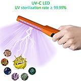 ANEWSIR Lámpara de Desinfección,desinfectante de varita de luz ultravioleta de carga USB, lámpara germicida de desinfección ultravioleta,Esterilización lámpara UVC, UV Luz Lámpara - naranja
