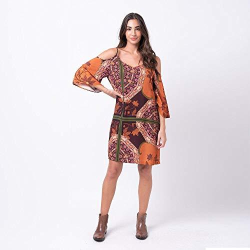 Vestido curto estampa marrakesh G