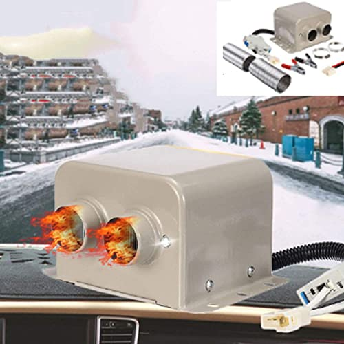 AACXRCR 1 2v 600w Calentador de automóviles, 2 orificios Calentador de automóviles Divroster usando PTC Elemento de calefacción de cerámica Calefacción de temperatura constante, bajo consumo sin ruido