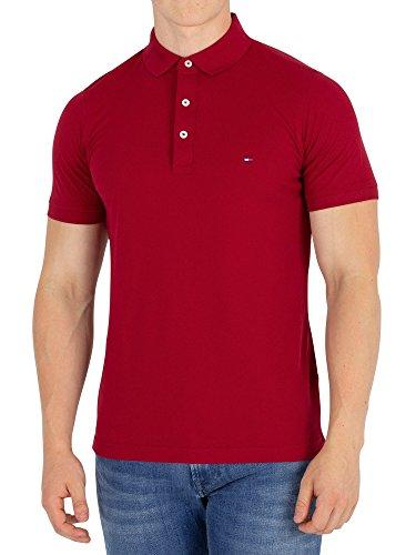 Tommy Hilfiger de los Hombres Slim Polo Shirt, Rojo