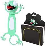 Signet animaux de dessin animé 3D, Marque-page animal, Bookmarks cadeau drôle pour garçons filles et adultes, convient aux enfants, adultes, amateurs de lecture, fêtes (F-Gecko) (environ 6,7 cm)