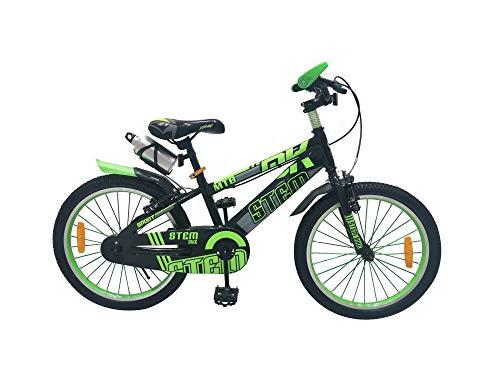 Kinderfahrrad 20 Zoll Kinder Fahrrad Spielrad blau grün STEM-Bike Kinderrad, Farbe:Grün (1158)