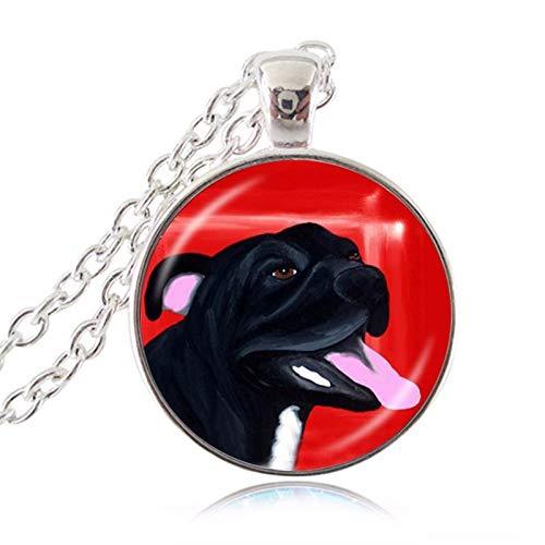 Nuevo lindo Bull Terrier American Pit Bulldog Pet Puppy Rescate Accesorios Colgante...