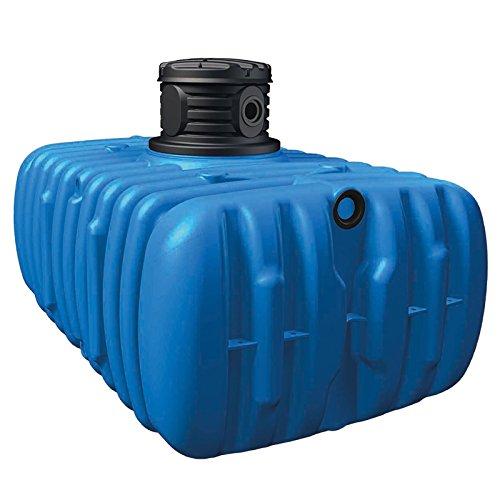 atout Regenwassertank Flat S Garten-Comfort Flachtank-Paket Flat Flachtank 1500 L inkl. Schachtverlängerung (Flat Tanksystem, 3000 L)