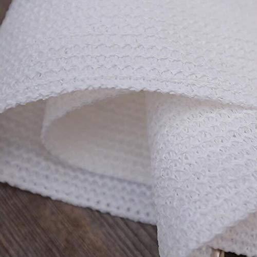 Lona blanca Sun refugio con techo de la cortina de Sun Sail Inicio Jardín Toldos de Protección al aire libre Cubiertas Plaza Patio casa de cristal personalizado Tamaño (Color: Blanco, Tamaño: 1x1m)